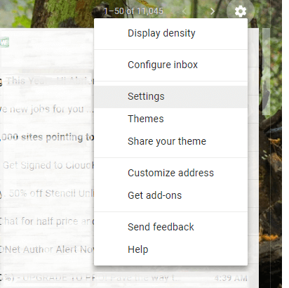 Gmail Setting