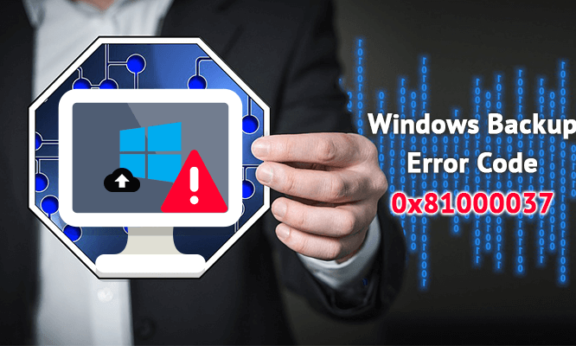 Windows Backup Error Code 0x81000037