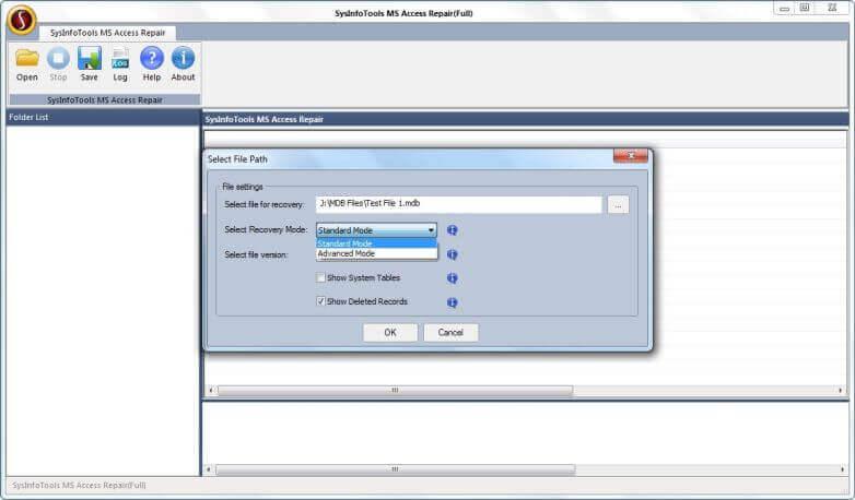 Access Database Repair Tool full screenshot