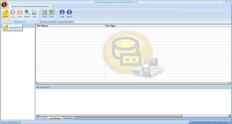 Click to view Backup Exec BKF Repair Pro 4.03 screenshot