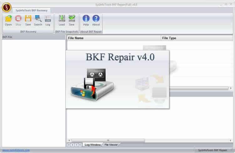 BKF Repair Tool full screenshot