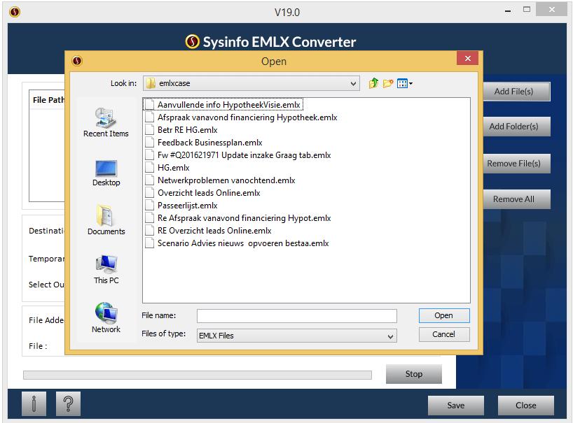 EMLX to PST Converter full screenshot