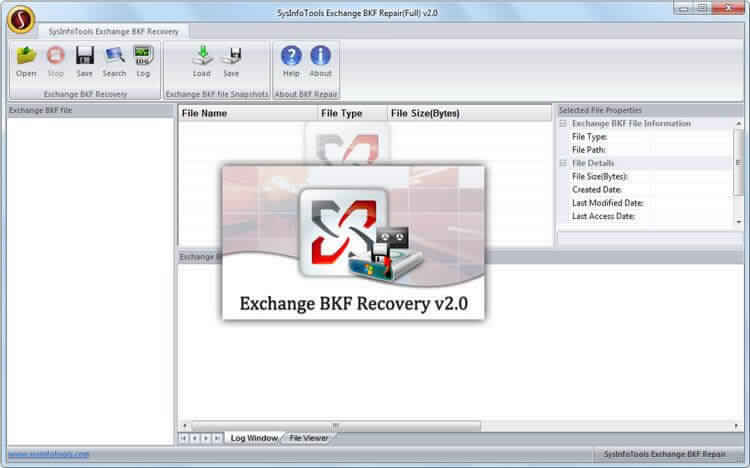 Screenshot for MailConverterTools Exchange BKF Recovery 2.0