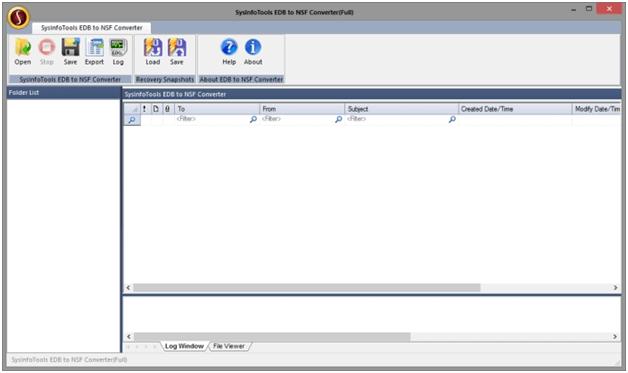 Exchange to Lotus Notes Tool full screenshot