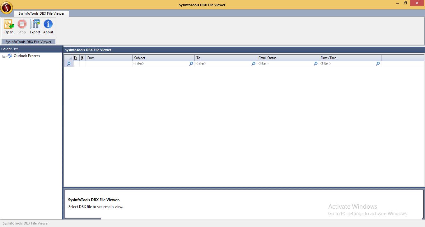 Free DBX Viewer, DBX file viewer tool, DBX File Reader