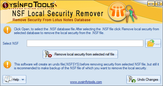 NSF Security Remover full screenshot