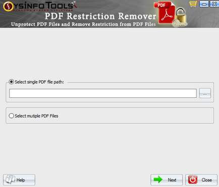 MailConverterTools PDF Lock Remover full screenshot