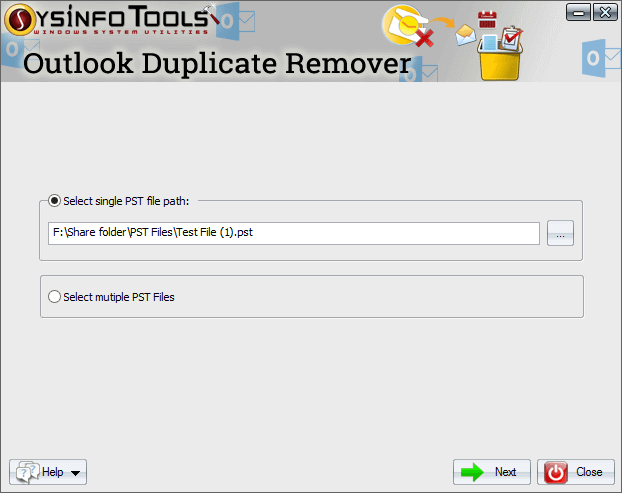PST Duplicate Email Remover full screenshot