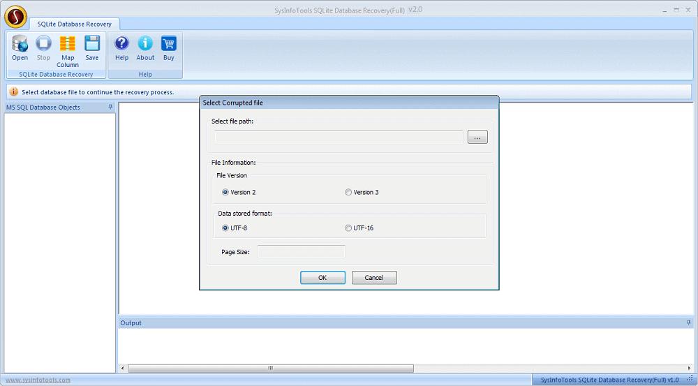 SQLite Data Recovery Tool full screenshot