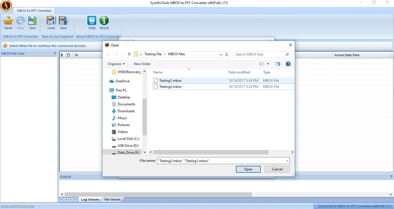 MailConverterTools for MBOX Files full screenshot